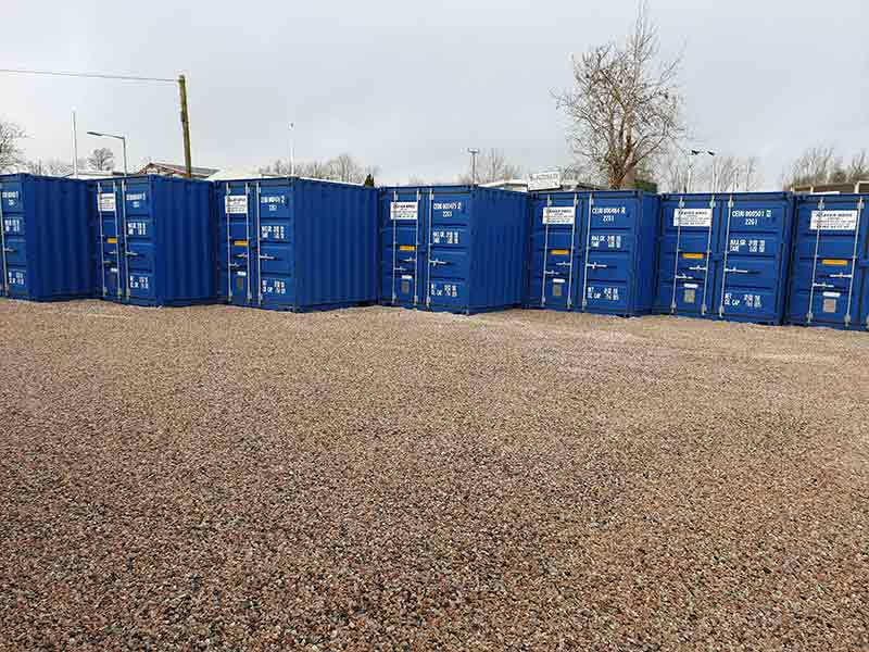 A First look at our Saltash Self Storage Yard